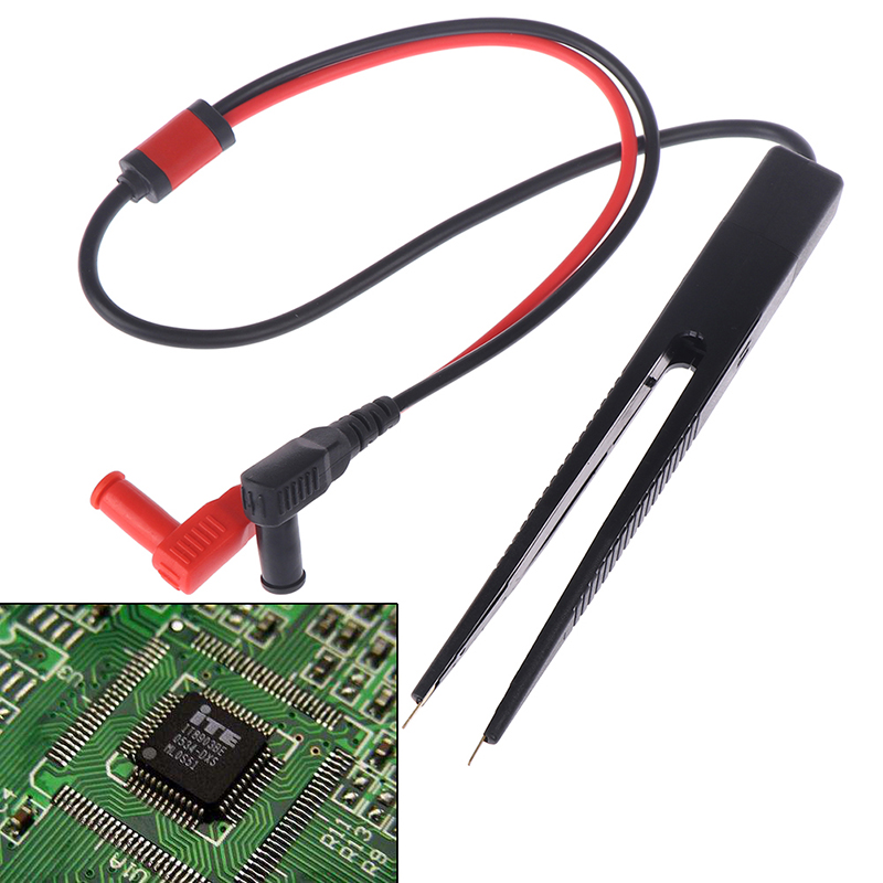 SMD Chip Test Clip Meter Lead Probe Multimeter Tweezer Capacitor Resistance New