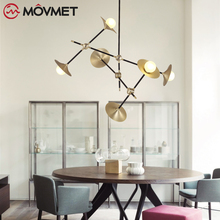 Nordic Postmodern Chandelier Lighting Modern Luxury Gold Chandelier Dining Room Living Room Home Decor Lustre beautiful cotton and lien luxury bedding room curtains living room curtain high quality home decor