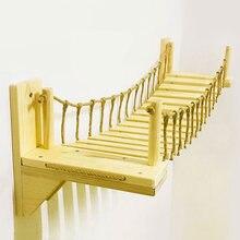 Подвесная деревянная кошачья мостик кровать гамак сизаль Когтеточка