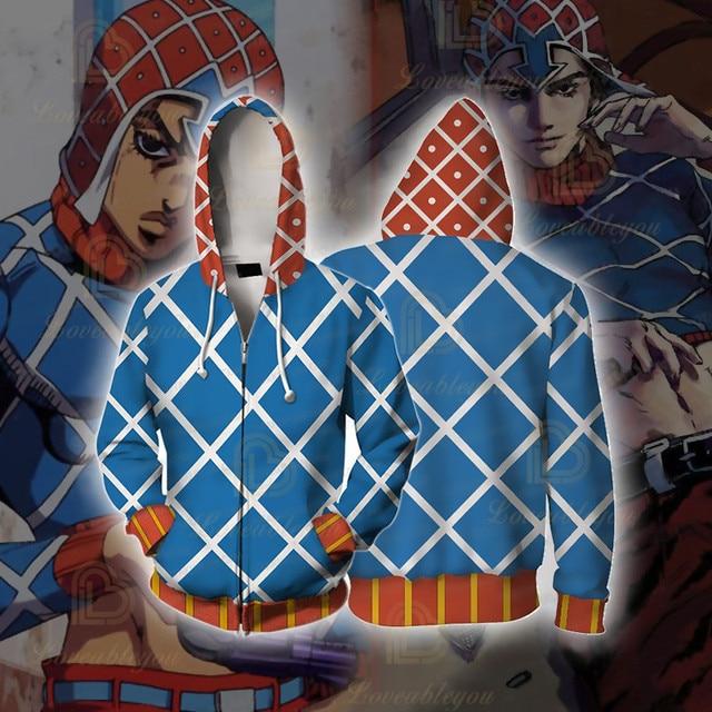 Anime JOJO'S BIZARRE ADVENTURE GUIDO MISTA Cosplay Costumes Hoodies Sweatshirts Bakugou Todoroki Shoto Spring/Autumn Coat