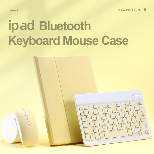 For iPad 9.7 2017 2018 2019 10.2 5th 6th 7th Generation Bluetooth Keyboard Mouse Case for iPad Air 1 2 3 Pro 9.7 10.5 11 Cover 1