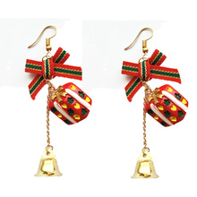 2019 Limited Brinco Tassel Earrings Aretes Europe And The Christmas Ornaments Lovely Bowknot Metal Bell Gift Box