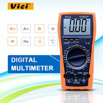 Высокоточный цифровой мультиметр с полной защитой, индуктивность, частота, температура, электро VC9805A +, высокое качество