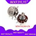 5 шт. WTH118 2 Вт 1A потенциометр 4,7 k ohm WTH118-2W 4K7 круглый вал углеродный поворотный конический потенциометр