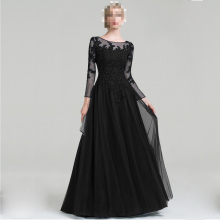 Горячая Распродажа, платье трапециевидной формы из тюля с глубоким вырезом, длина до пола, платье для матери невесты, для свадебной вечеринки