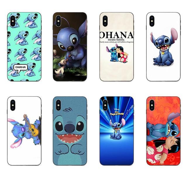 Lilo & Stitch Ohana para Galaxy A3 A5 A6 A6s A7 A8 A9 A10 A20E A30 A40 A50 A60 A70 a80 A90 Plus 2018 suave TPU Capa Coque