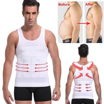 Be-In-Shape Men Slimming Body Shaper Waist Trainer Vest Tummy Control Posture Shirt Back Correction Abdomen Tank Top Shaperwear 3