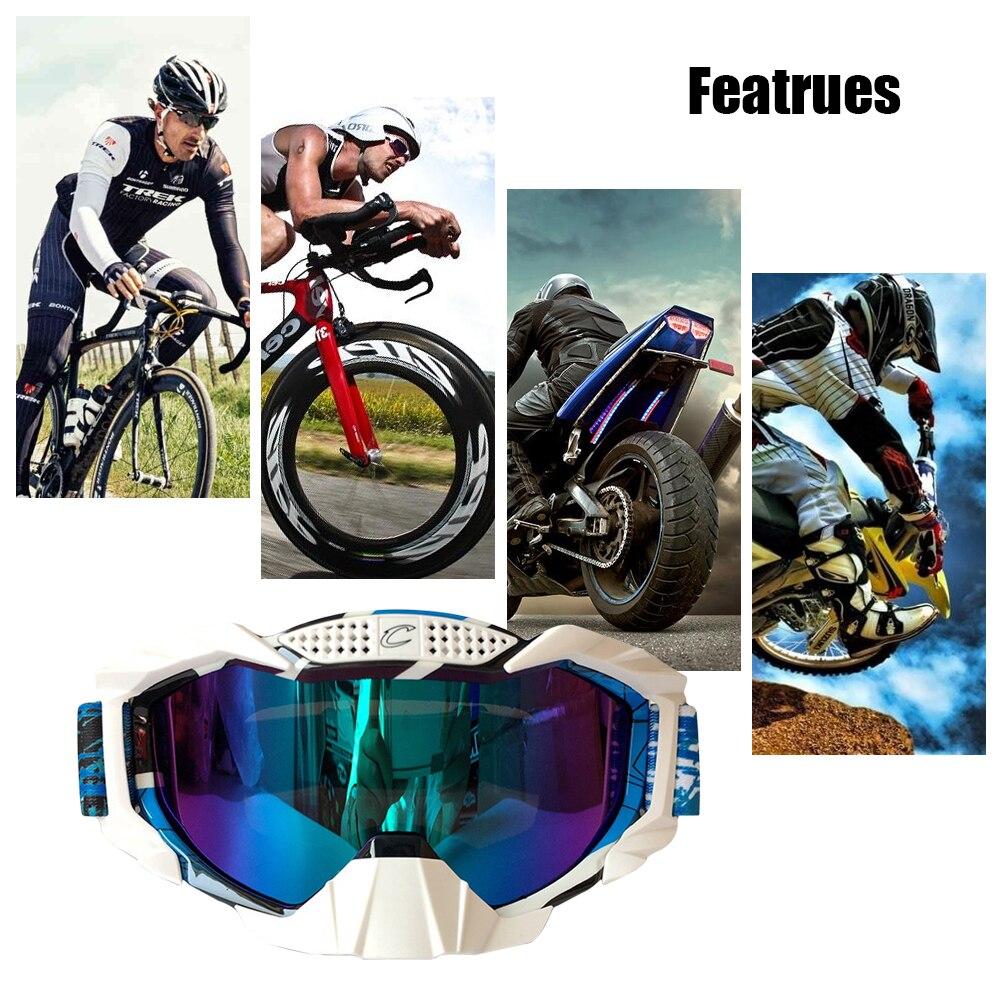 Accessoires de moto moto lunettes de ski de fond lunettes d'alpinisme en plein air Cycle Gear moto Rider équipé