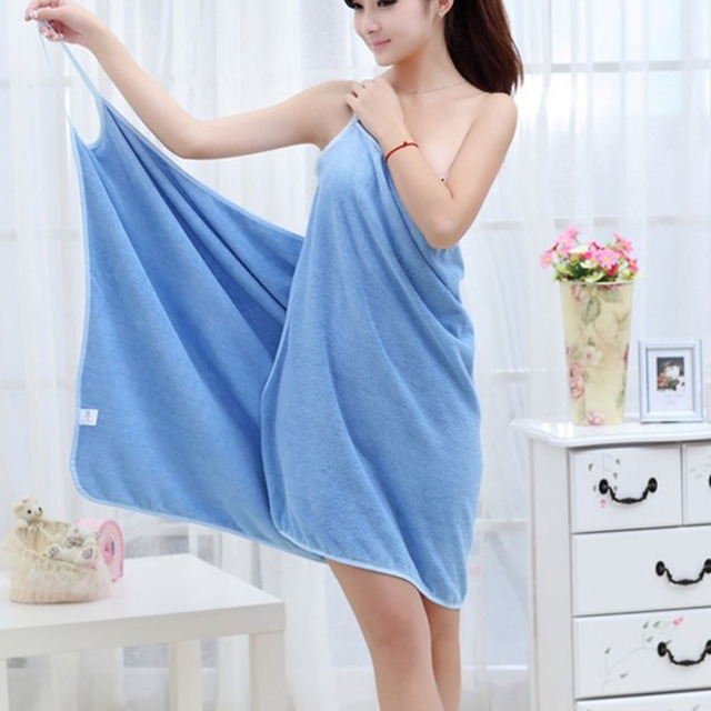 Fashion Lady Wearable Fast Drying Magic Bath Towel Beach Spa Bathrobes Bath Skirt Soft comfortable Wearable Towels 140x70cm 1