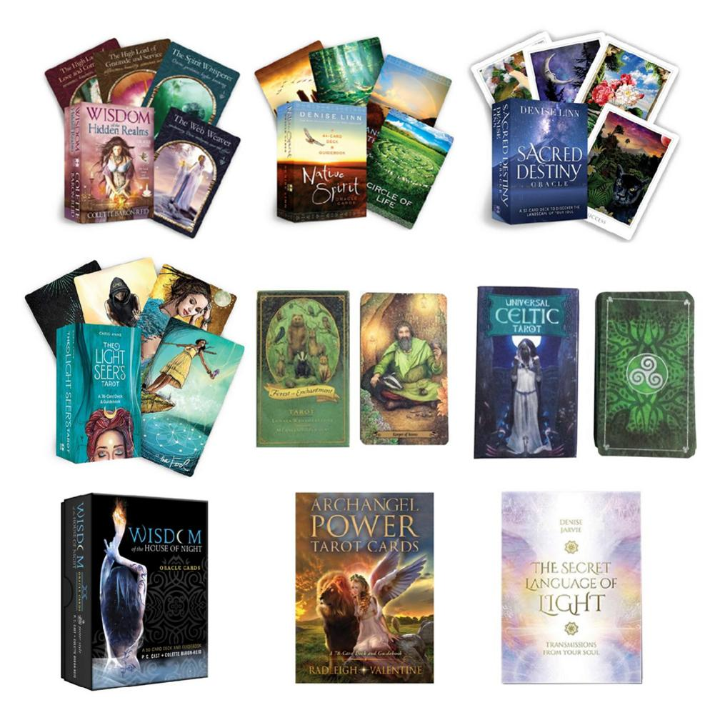 Tarot Cards Deck Board Games Oracle Guidance Divination Fate Tarot Table Playing Card Game For Home Family Party Entertainment