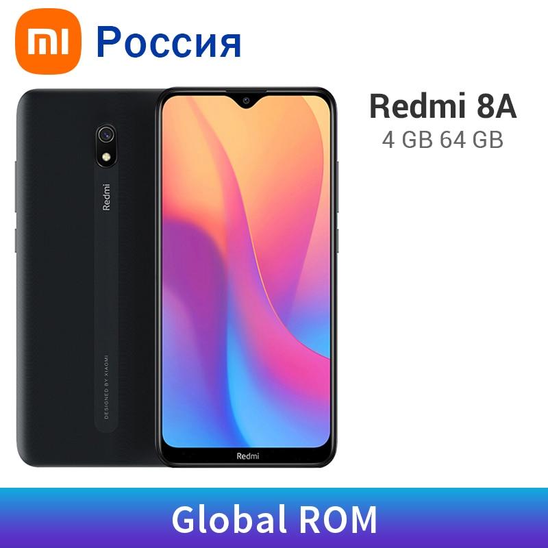 Rom global xiaomi redmi 8a 4gb ram 64gb rom 5000mah 8 um snapdargon 439 octa núcleo 12mp câmera ota atualização do telefone móvel tipo-c