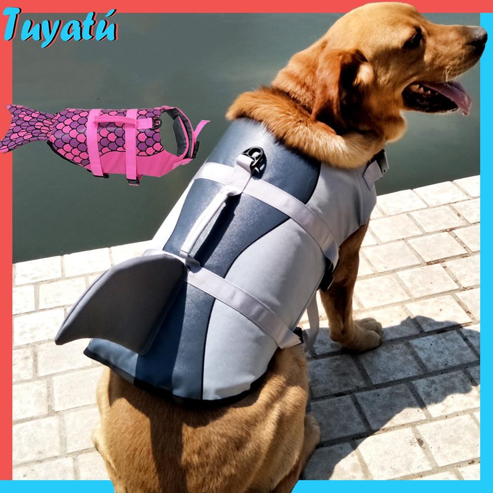 Спасательный жилет для собак, спасательный жилет для больших собак, ошейник для собак, спасательный жилет для собак, летний купальный костю...