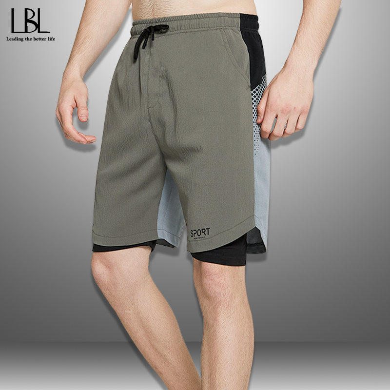 New Casual Shorts Men Summer Breathable Quick Drying Men's Beach Shorts Patchwork Steetwear Bodybuilding Boardshorts Male 2020