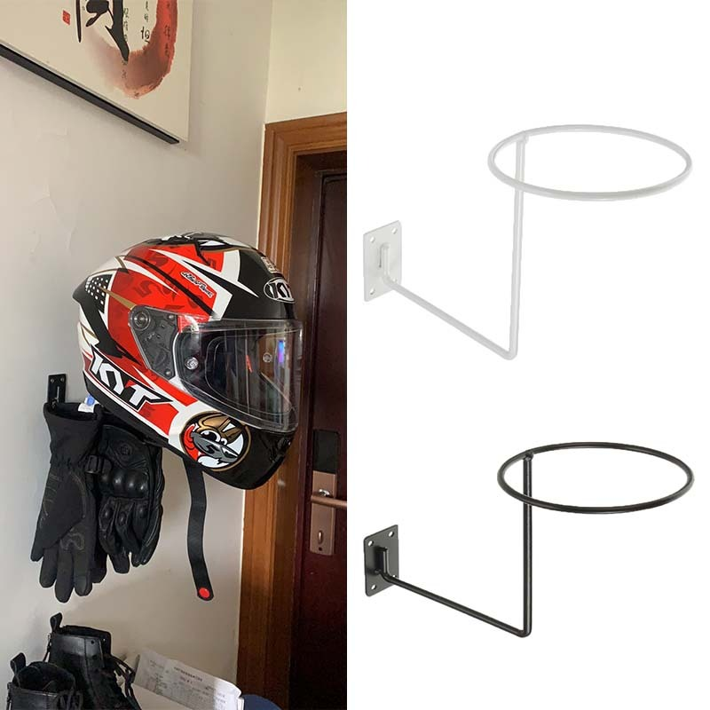 Motorcycle Helmet Hook Wall Hanger Steel Holder Multifunctional Rack for Raincoat Gloves Balls Scooter Moto Helmets Accessories