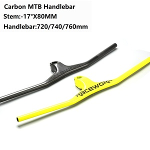 Image 1 - คาร์บอนไฟเบอร์ Handlebar UD Matt รูปแบบบูรณาการ Handlebar Stem 720/740/760mm สำหรับ MTB DH จักรยานเสือภูเขาจักรยานอะไหล่