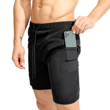 Sports Shorts 2020 New Men Running  Male double-deck Quick Drying men Jogging Gym