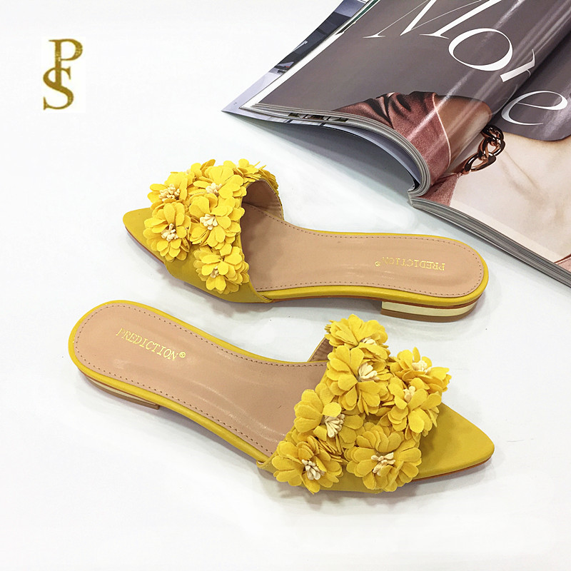 Image 3 - Womens shoes with flowers flat shoes pointed shoes lovely shoesSlippers   -