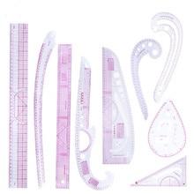 MIUSIE 9pcs תפירה צרפתית Curve שליט למדוד לדירוג עקומת שליט כלים לביצוע הלבשה חייט ציור תבנית קרפט כלי