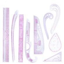 Miusie 9 Pcs Naaien Franse Curve Liniaal Grading Curve Heerser Gereedschappen Voor Kleding Maken Tailor Tekening Sjabloon Craft Tool