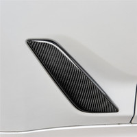 Fit For BMW G30 5 Series Carbon Fiber Shark Gills Side Vent Sticker Car styling Car Front Fender Side Air Vent Cover Accessories