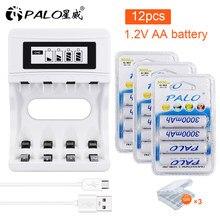 Bateria recarregável 100% mah do aa das baterias 1.2 mah ni-mh do aa de palo 3000 original para o carro do brinquedo da câmera mp3 anti-queda