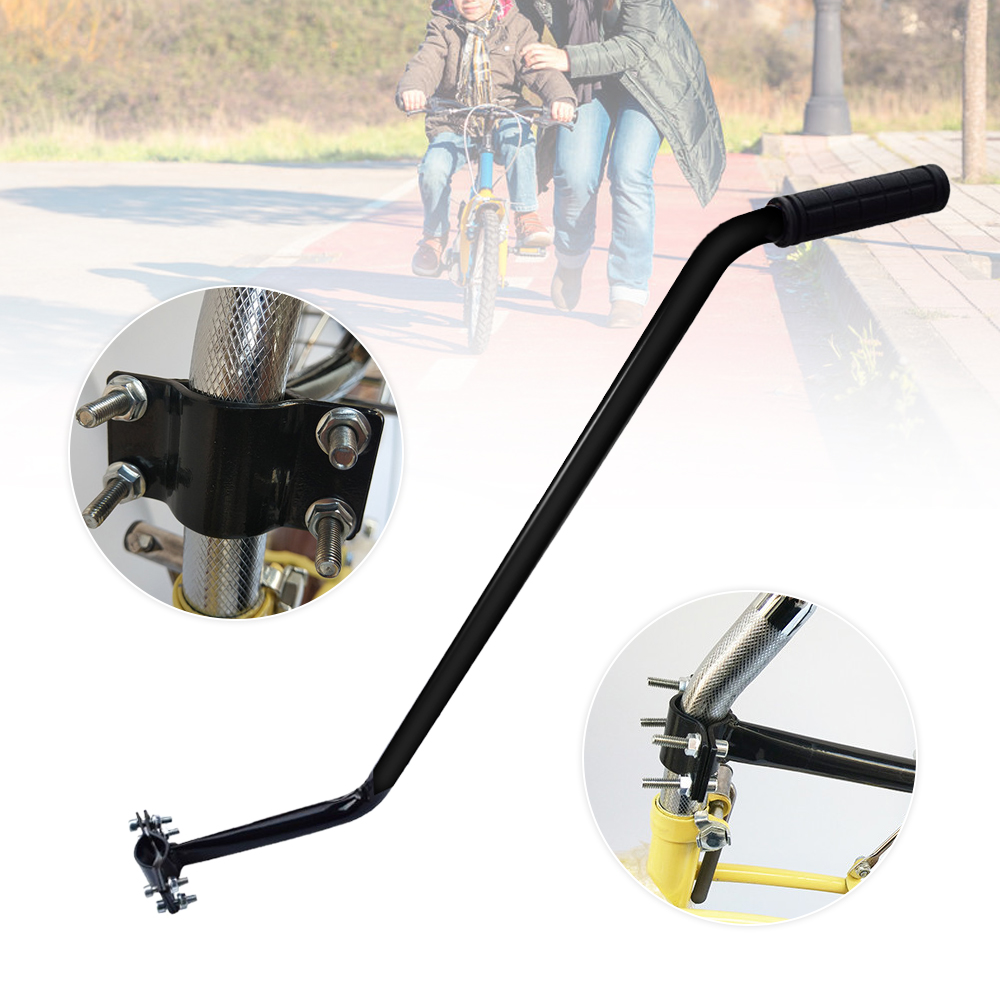 Kids Bike Push Handle Safety Pole Bicycle Control Quality Steel Black For  Parents Learning Vehicle Bike Tool