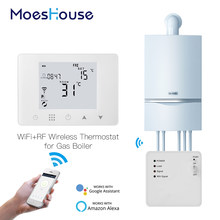 WiFi Smart Thermostat Wand-Hing Gas Boiler Heizung Temperatur Controller Arbeit mit Alexa Google Hause(China)