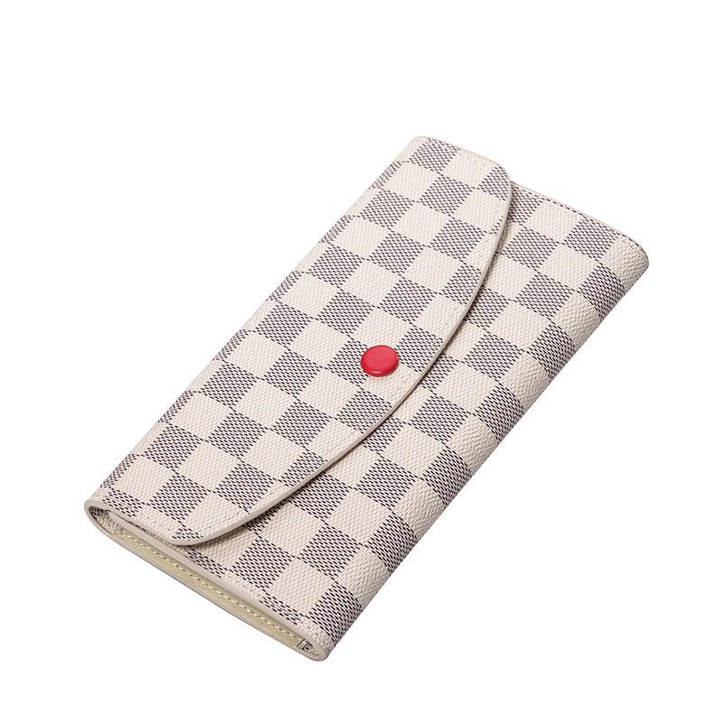KYYSO Plaid Design Luxury Long Wallet European and American Fashion Clutch Multifunctional Internal Structure Women's Wallet