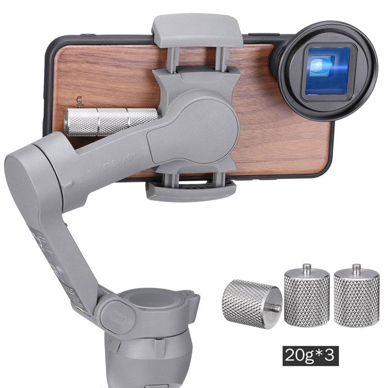 Contrepoids Ulanzi 60g pour Dji Osmo Mobile 3 contre-poids pour lentille grand Angle à lentille anamorphique