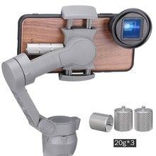 Ulanzi 60g Contrappeso per Dji Osmo Mobile 3 Contatore Peso per il Bilanciamento Momento Anamorfico Lens Wide Angle Lens Giunto Cardanico