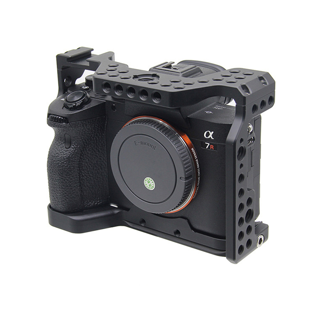 1PC Professional Camera Cage Aluminum Alloy Video Stabilizer Mount for Sony A7R4 Camera Accessories Protective Cover