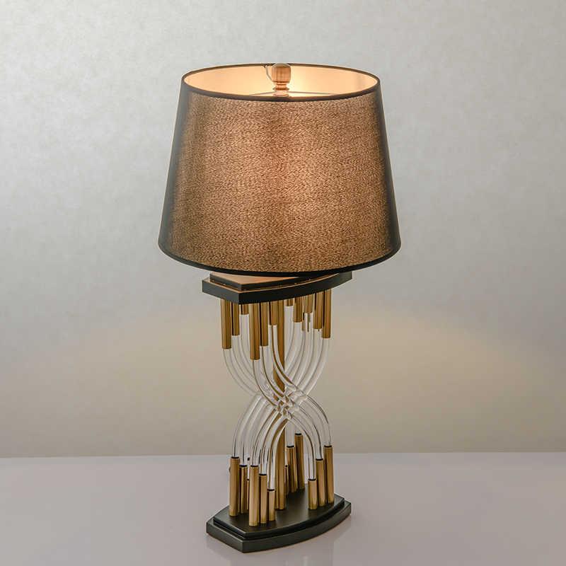 מודרני E27 LED שחור ברזל זכוכית לילה צד שולחן מנורה עם אהיל מנורה לחדר שינה סלון לופט אישי משרד עיצוב שולחן