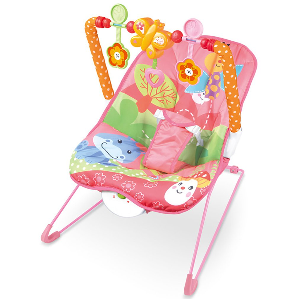 H495e204a3e7543a4a76f18d95de3bf1ck Baby electric rocking chair Multi-function music vibrating shaker Children's rocking chair recliner toy
