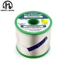 Alambre de soldadura hifi de 0,8mm, productos japoneses brillantes que contienen plata 3%, alambre de soldadura de alta calidad, lote de 5m