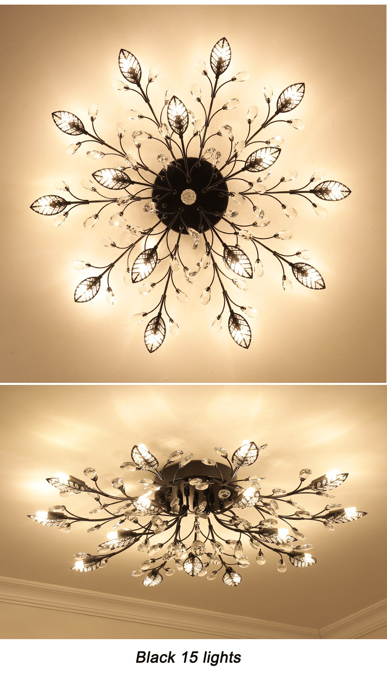 H495e513928b44ad19be9bbb3161249973 Modern ceiling light for living room led Crystal ceiling lamp bedroom crystal lamps dining gold loft lighting Crystal Fixtures