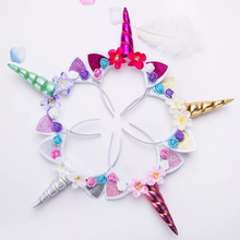 Childrens Unicorn Headband Decoration Party Supplies Happy Birthday Decorations Kids Event Favors