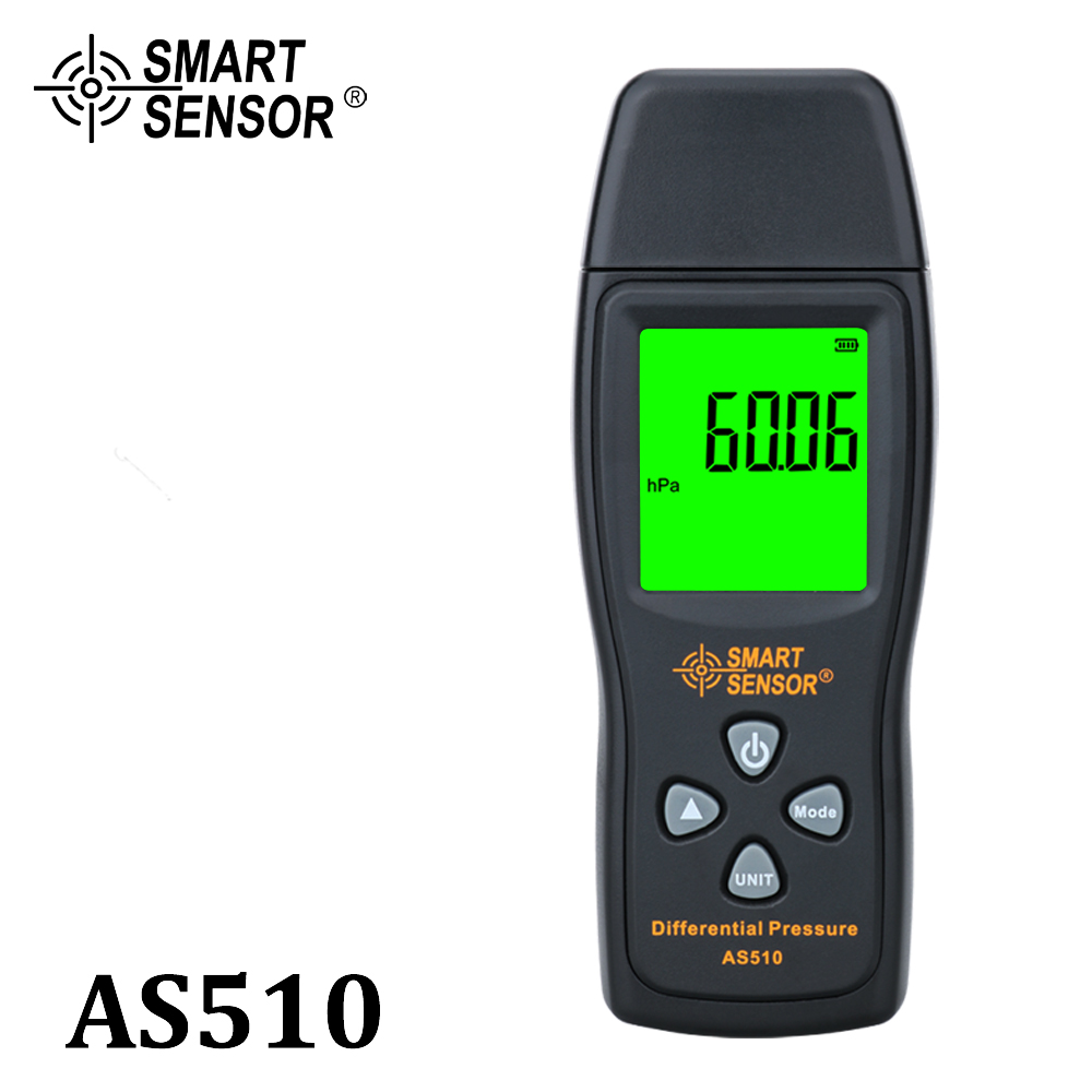 Manometer Digital air pressure Differential Pressure Meter 0-100 hPa 0-45 15 in H2O digital negative vacuum pressure gauge meter