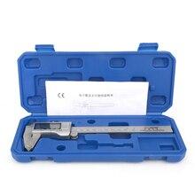 Pinças de aço inoxidável digital caliper 150mm aço digital vernier caliper eletrônico micrômetro medição ferramenta
