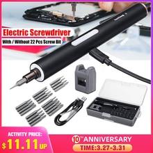 DOERSUPP Mini Electric Cordless Magnetic Screw Driver Tool Rechargeable Li ion Battery Precisions Hand Screwdriver Bit Set