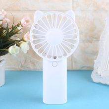 Cute Cat Fan Air Cooler Hand Held Travel Cooler Cooling Mini Desk Fan Powered By 2x AA Battery For Outdoor Home Office mini portable cooling fan hand battery fan cute held desk cooler air conditioner smaller air appliance machine for travel