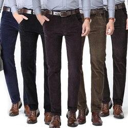 Высокое качество, Новинка осени и зимы 2020, мужские деловые мужские брюки, прямые вельветовые штаны, дышащие повседневные штаны
