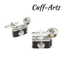 Cufflinks Jewelry Gemelos Spinki Retro High-Quality Men for Camera Gift by C10482