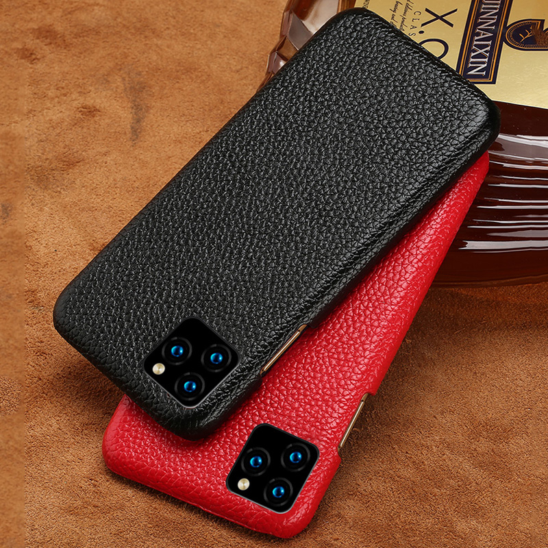 <font><b>Genuine</b></font> Litchi Grain <font><b>Leather</b></font> phone <font><b>case</b></font> For Apple <font><b>iPhone</b></font> 11 11Pro 11 Pro MAX X XS XSmax XR 6 6s 8 7 Plus 5 SE <font><b>5S</b></font> Luxury Cover image