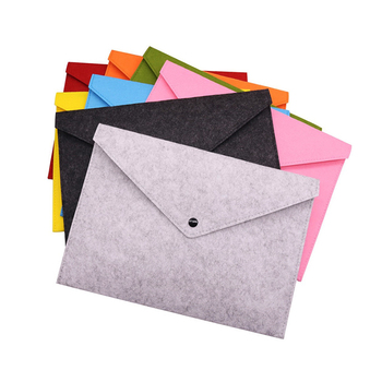 1 pcs A4 Chemical Felt  File Folder Durable Briefcase Document Bag Filing Products Stationery School Office Business Supplies 1