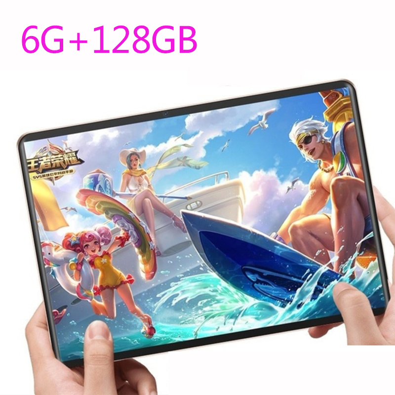 2.5D Screen Metal Tablet 10.1 Inch Android 8.0  4G Dual SIM Card Tablet PC Ten Core Dual Camera  6GB+128GB WiFi Bluetooth GPS