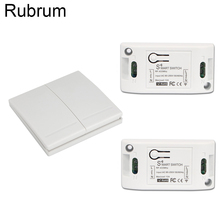 Rubrum 433Mhz Wireless RF Remote Control Switch AC 110V 220V Lamp Light LED Switch Corridor Room Home 433 Mhz Wall Panel Switch