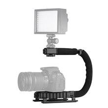 Accessoires pliables de support de support de Flash de poignée de stabilisateur daction de poche en forme de C pour les Smartphones de caméscope dappareil photo de DSLR DV