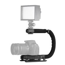 Opvouwbare C Vormige Handheld Actie Stabilizer Grip Flash Houder Accessoires voor DSLR DV Camera Camcorder Smartphones