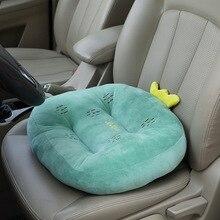 цена на Simanfei Seat Cushion Cartoon Fruit Car Office Back Cushion Plush Round Soft Breathable Memory Decorative Seat Chair Backrest