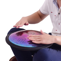 14 Inch Handmade Hand Pan Drums Antique F major D Minor Hand Drum Music Hand pan Drums Percussion Musical Instruments